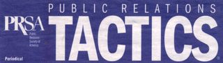 Public Relations Tactics Article by Dick Pirozzolo
