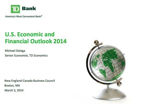 TD Banl Economy Briefing Boston Opening