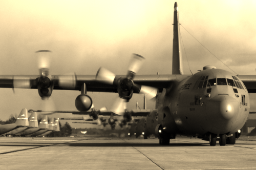 C--130 Hercules USAF courtesy photo Escape from Saigon Dick Pirozzolo