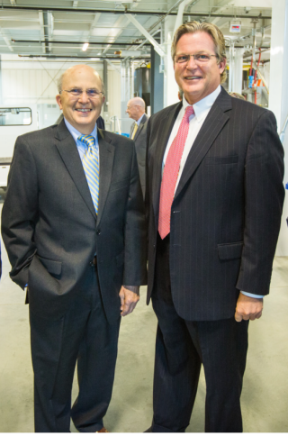 Public Relations Agency head Dick Pirozzolo with GTed Kennedy  Jr.