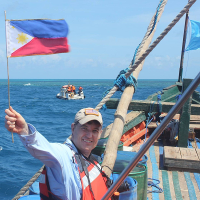 Anders Corr at Scarborough Shoals South China Sea