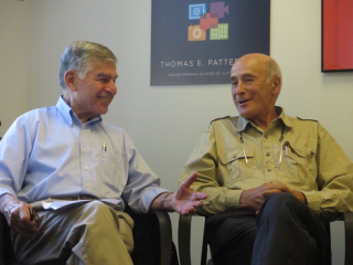 Michael Dukakis of Boston Global Forum with Joseph Nye  father of Soft Power