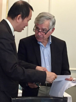 Tuan Nguyen and Michale Dukakis