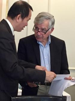 Tuan Nguyen and Michale Dukakis
